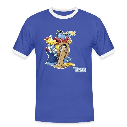 Käpt'n Blaubär am Steuerrad - Männer Kontrast-T-Shirt