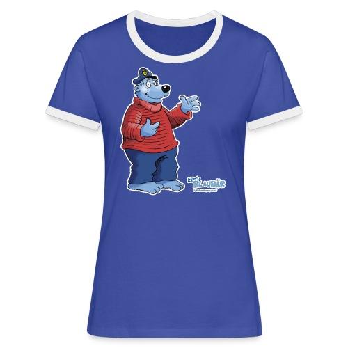 Käpt'n Blaubär - Frauen Kontrast-T-Shirt