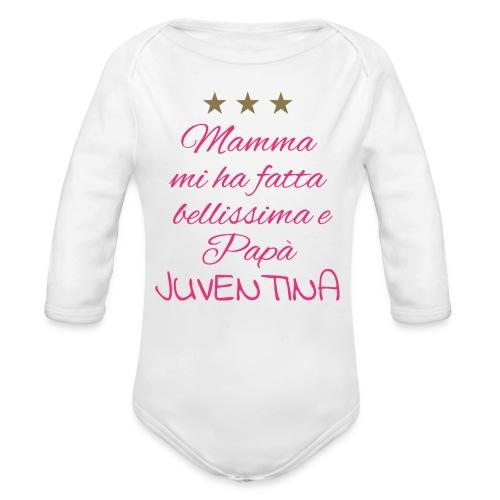 Body Juventina - Body ecologico per neonato a manica lunga