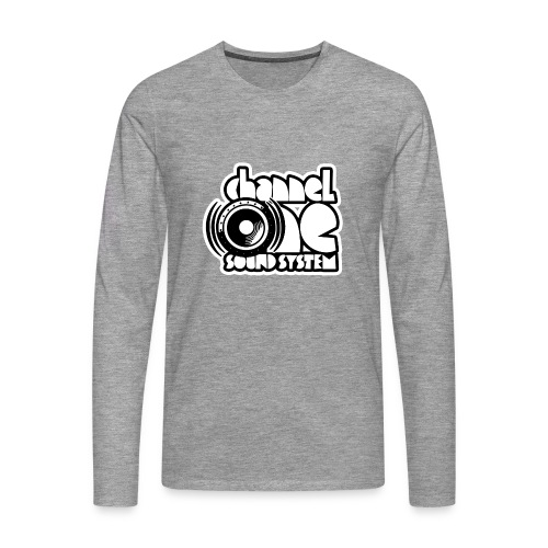 Channel One tshirt long sleeved - Grey - Men's Premium Longsleeve Shirt