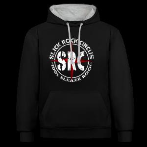 Men Hoodie - Slick Rock Circus Evil Clown and Vintage Logo - Kontrast-Hoodie
