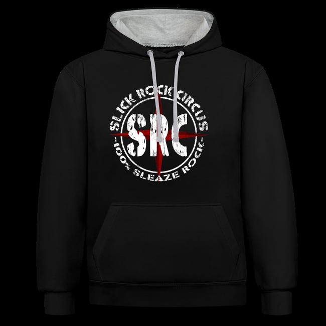 Men Hoodie - Slick Rock Circus Evil Clown and Vintage Logo