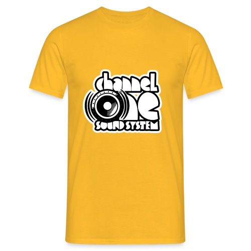Channel One tshirt - Yellow - Men's T-Shirt
