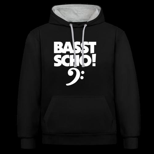 Basst Scho Bass Kontrast Hoodie - Kontrast-Hoodie