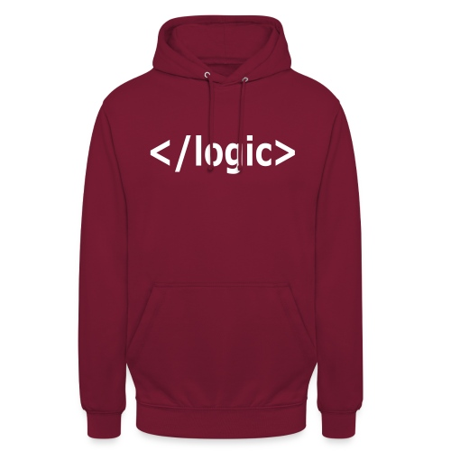 end logic - Unisex Hoodie
