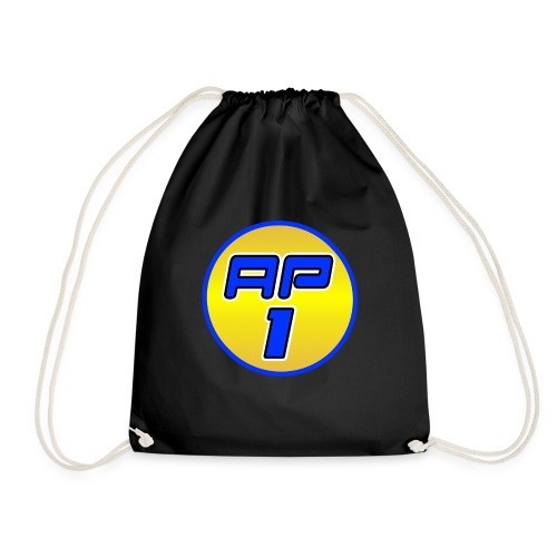 AP1 Drawstring Bag : black - Drawstring Bag
