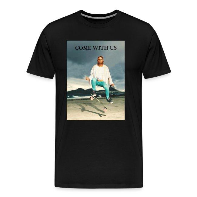 T shirt Homme T RadCow Jesus Premium shirt Skate 41HR7w5xCq