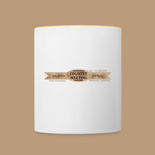 Kaffeetasse Henkel GELB - Tasse zweifarbig