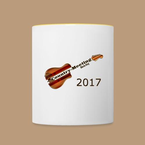 Kaffeetasse Gitarre Henkel GELB - Tasse zweifarbig