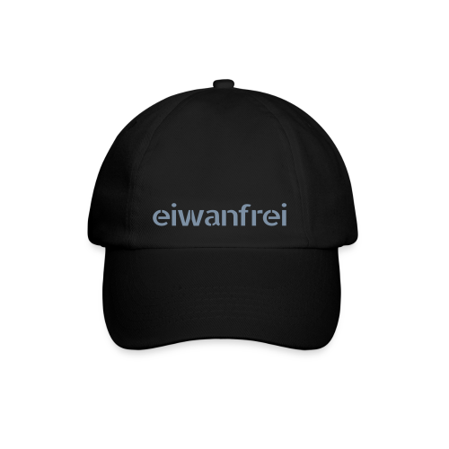 Baseball Cap eiwanfrei - in 3 Farben - silber metallic Druck  - Baseballkappe