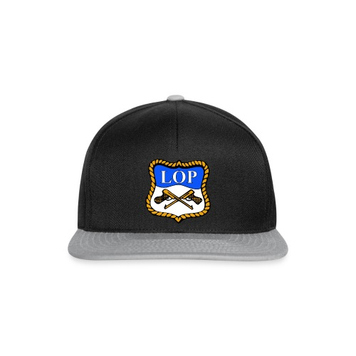 Sort/Grå Caps med LOP logo - Snapback-caps