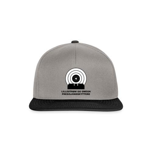 Grå/Sort Caps med press logo - Snapback-caps