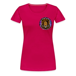Neon Lion Womens Tee Small Image - Women's Premium T-Shirt