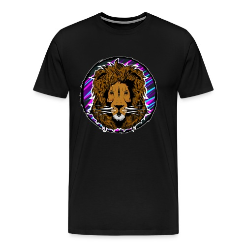 Neon Lion Mens Tee  - Men's Premium T-Shirt