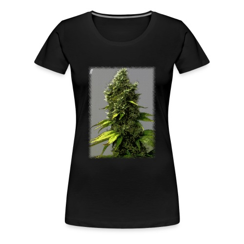 cartoon weed bud shirt - Women's Premium T-Shirt