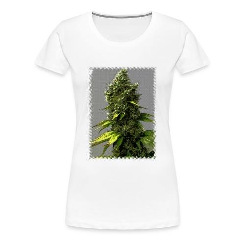 cartoon weed bud shirt - Women's Premium T-Shirt