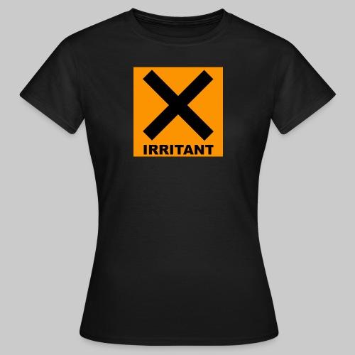 Women's Irritant Warning Tee Black - Women's T-Shirt
