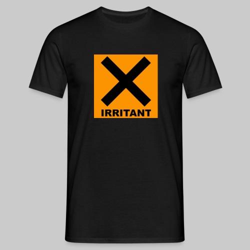 Men's Irritant Warning Tee Black - Men's T-Shirt