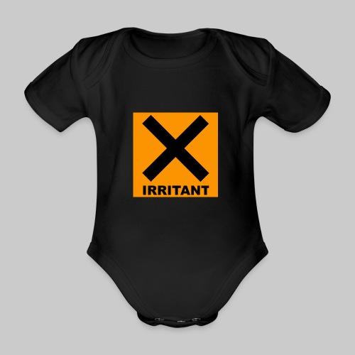 Irritant Warning Baby Onesie Black - Organic Short-sleeved Baby Bodysuit