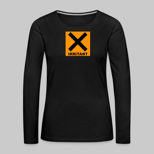 Women's Irritant Long Sleeve Black - Women's Premium Longsleeve Shirt