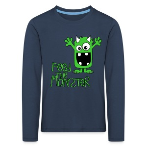 Feed the Monster - Grün - Kinder Langarmshirt - Kinder Premium Langarmshirt