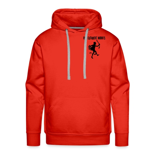 Simple red hoody - logo back - Men's Premium Hoodie