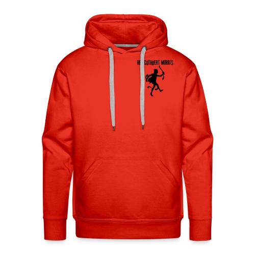 Simple red hoody - logo back - Men's Premium Hoodie