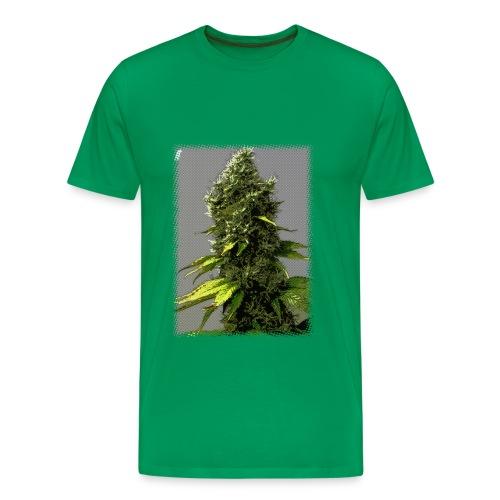 cartoon weed bud shirt - Men's Premium T-Shirt