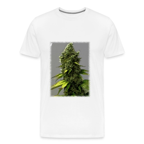 cartoon weed bud shirt - Men's Premium T-Shirt