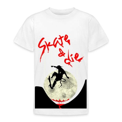 Skate & Die - Teen T-Shirt (weiß) - Teenager T-Shirt