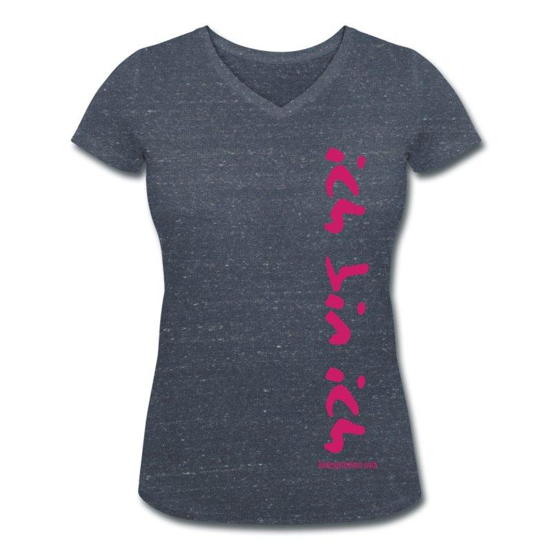 ich bin ich pink frauen t shirt mit v ausschnitt. Black Bedroom Furniture Sets. Home Design Ideas