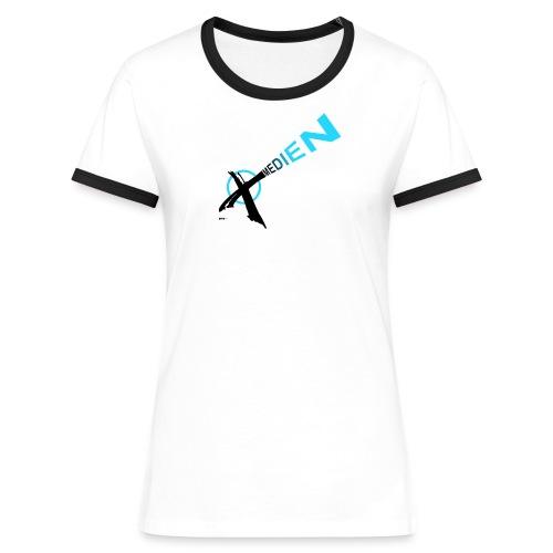 Medien Wählen - Frauen Kontrast-T-Shirt