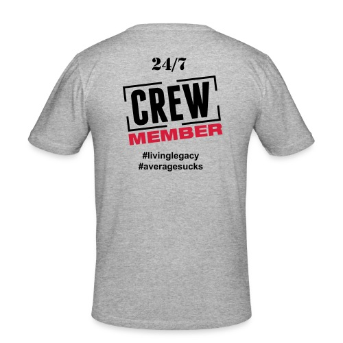 24/7 - Crew Official Member T-Shirt - Männer Slim Fit T-Shirt