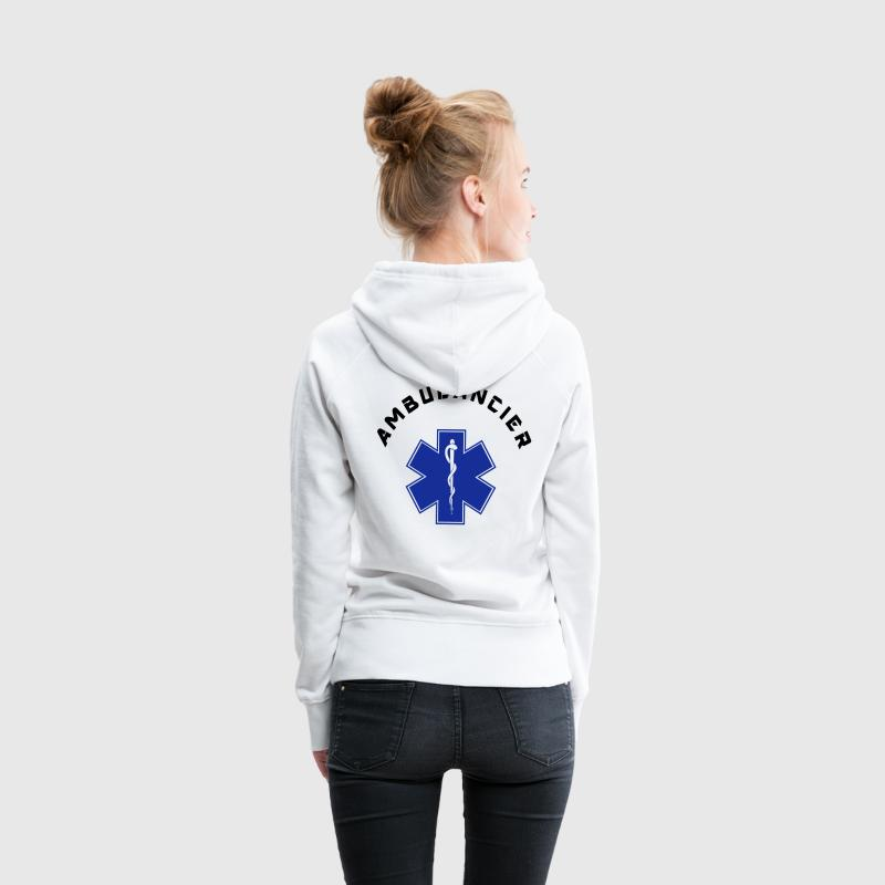 ambulancier logo 3 Sweat-shirts - Sweat-shirt à capuche Premium pour femmes