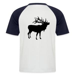 Deer T-Shirt - Kortermet baseball skjorte for menn