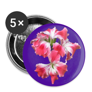 Buttons klein 25 mm - Design Pelargonium lila-pink by Amahy - Buttons klein 25 mm