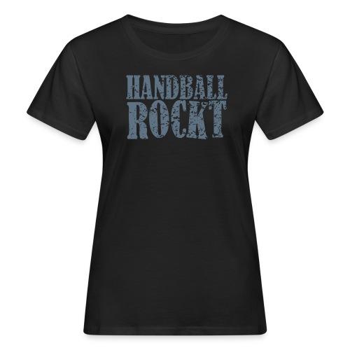 Handball rockt Damenshirt - Frauen Bio-T-Shirt