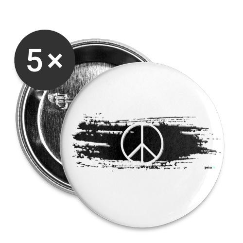 Peace Pinselstrich - Buttons mittel 32 mm