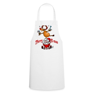 Merry X-mas from Santa Claus and his reindeer - Cooking Apron