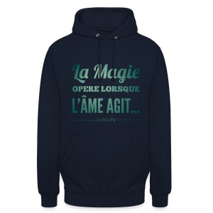 Sweat-shirt à capuche unisexe, Nuréa La Magie - Green Light - Sweat-shirt à capuche unisexe