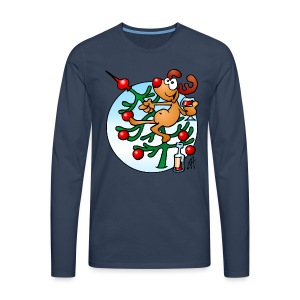 Reindeer in a Christmas tree - Men's Premium Longsleeve Shirt