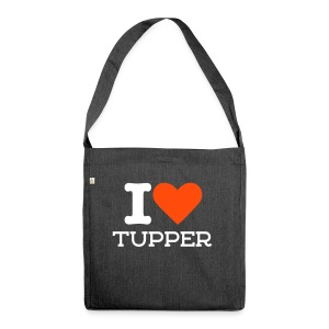 I LOVE TUPPER - Schultertasche aus Recycling-Material