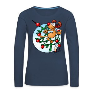 Reindeer in a Christmas tree - Women's Premium Longsleeve Shirt