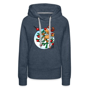Reindeer in a Christmas tree - Women's Premium Hoodie
