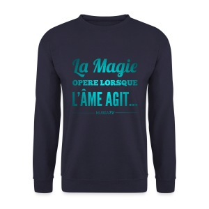Sweat-shirt Homme, Nuréa La Magie - Blue Light - Sweat-shirt Homme