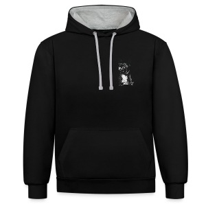 PICKLE THE FRENCHIE - Contrast Colour Hoodie