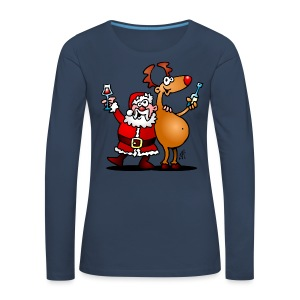 Santa Claus and his Reindeer - Women's Premium Longsleeve Shirt