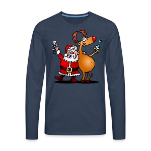 Santa Claus and his Reindeer - Men's Premium Longsleeve Shirt