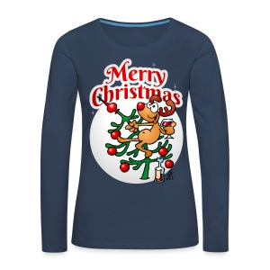 Reindeer in a Christmas tree - Merry Christmas - Women's Premium Longsleeve Shirt