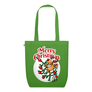 Reindeer in a Christmas tree - Merry Christmas - EarthPositive Tote Bag